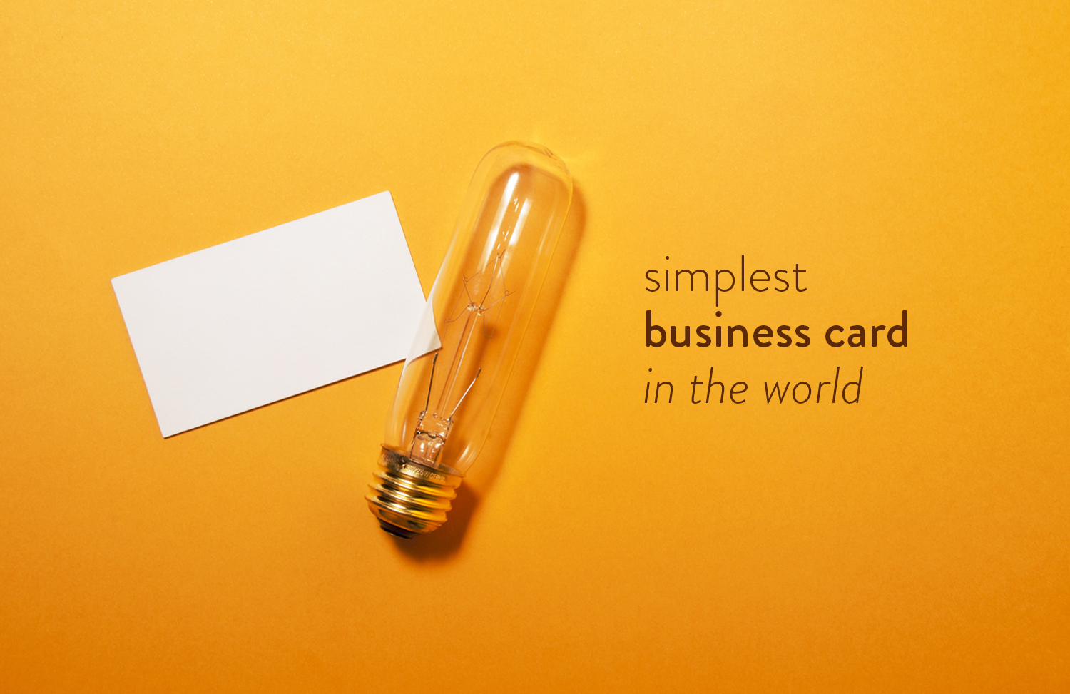 Blank business card.